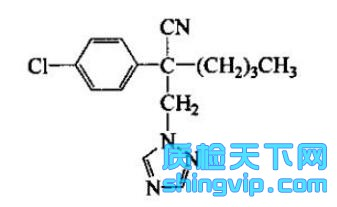 腈菌唑结构式